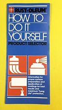 Vtg 1980 Rustoleum Paint Do it Yourself Product Selector Spray Brochure Book