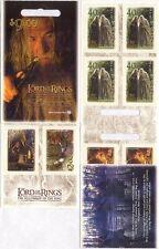 NZ 2001 Lord of the Rings/Film/Cinema/Hobbits/Gandalf/Wizards 10v s/a bklt b6765