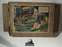 """VINTAGE TRIANG FOLDAWAY FORT """"W"""" - CASTLE WITH DRAWBRIDGE - 1950'S BOXED RARITY"""
