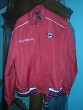 Rare Fila Sony Ericsson Open Red Tennis Jacket Men's size small