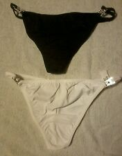 L@@K NO VPL. 2 prs luxury diamonte thongs. size 8 to  20 RRP £18 +