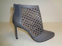 Antonio Melani Size 8 M MENA Gray Leather Ankle Pumps Heels New Womens Shoes