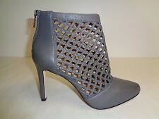 ba875c0f4a3 Antonio Melani Size 8 M Mena Gray Leather Ankle PUMPS HEELS Womens Shoes