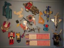 Vintage 1980's G1 Transformers Figures, Parts, Accessories Lot