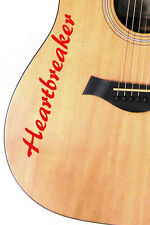 2 X Personalised Art Bass Acoustic Electric Guitar Vinyl Name Decal Sticker