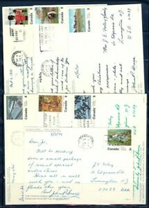 CANADA SEL OF 7 DIFF 1970's ONTARIO PICTORIAL POSTCARDS USED