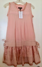 NWT Plains and prints pink dress  100% cotton - lined XS