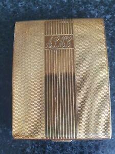 Vintage Art Deco-style Zenette Powder Compact, 8cm x 6cm x1cm, Used, 1940s/50s