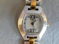 TISSOT MONTRE BRACELET QUARTZ BICOLORE ACIER GRISE PLAQUE OR FEMME WOMEN WATCH