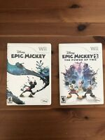 Lot Of 2 Epic Mickey Wii And Epic Mickey 2 Wii Disney Nintendo Interactive