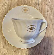Vintage United Airlines Tea Cup/Saucer Syracuse China