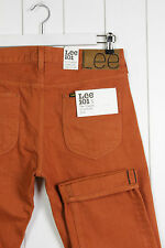 NEW LEE 101S 11 3/4oz SELVAGE JEANS SLIM TAPERED ORANGE LUKE FIT L32 -All Sizes