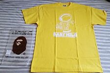 BAPE BABY MILO ASTRONAUT MARTIAN YELLOW NASA GO MOON APE T-SHIRT SIZE X-LARGE XL