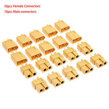 10 Pairs XT60 Male+Female Bullet Connectors Plugs Converter For RC Lipo Battery