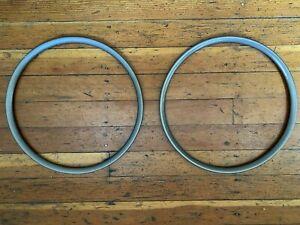 "2 VTG Sun (?) 20"" Tubular Rims 28° Aero Anodized for Junior Racer BMX Wheelchair"