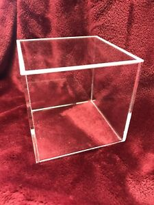 Culpitt Cake Display Box/Separator With Removable Rebated Lid Acrylic 135mm