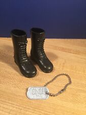 GI JOE - Masterpiece Edition -Action Pilot Boots & Dog Tag Lot - 1/6 Scale