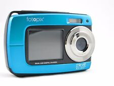 Blue 18MP underwater digital camera, 3m Waterproof Dual Screen, supports 32GB TF