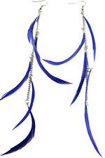 F1596 fashion long Feather circle chain dangle chandelier earrings jewelry