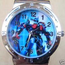 Uurwerk Transformers, licht blauwe armband met print Ø 34,5 mm  L =23,5 cm