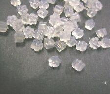 100pcs Clear Rubber Back Earring Stoppers-1880