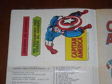 CAPITAN AMERICA 1a Serie no.50 - ADESIVI QS/EDICOLA - ORIGINALE Ed. CORNO 1975
