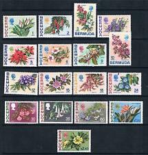 Bermuda 1970 Flowers SG 249/265 MNH