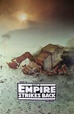 STAR WARS The Empire Strikes Back AT-AT Walker Vintage Original Promo Poster 90s