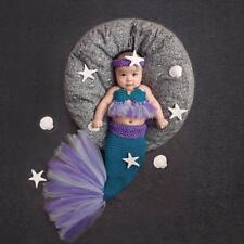 Baby Girl Knitted Mermaid Costumes Newborn Photography Clothing Props