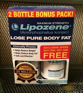 Lipozene Pack of 2 Bottles Maximum Strength 1500mg Weight Loss JAN 2023 #3947