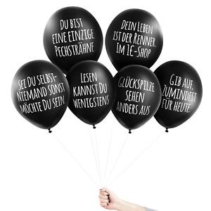 "Pechkeks Anti-Party Ballons ""HANG & LOSE"" Luftballon schwarz mit Spruch GOTHIC"