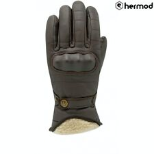 Racer Flynn 3 Waterproof Classic Vintage Motorcycle Motorbike Gloves - Brown