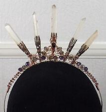 Genaine Crystal Crown, Wedding Tiara Handfasting, Real Quartz Points & Gemstones
