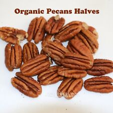 ORGANIC PECANS  HALVES Raw no shell  Bulk DELICIOUS !