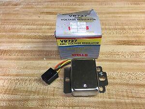 Voltage Regulator WELLS VR727 (STANDARD # VR115) for AMC, Jeep V8 (71-75)