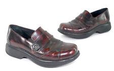 Dansko Women's 41 Burgundy Cordovan Side Button Loafer Shoes