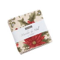 Moda Fabrics Mini Charm Pack - Marches De Noel by 3 Sisters. 2 1/2 inch squares