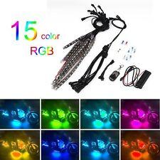 15-Color Wireless Remote Motorcycle RGB SMD5050 LED WPlashing Light 12 Strips MI