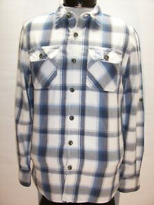 Superdry Hommes Taille M Bouton-Up Chemise Combiner Envoi Remise
