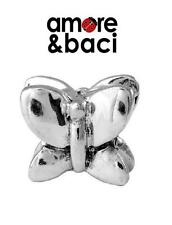 Genuine AMORE & BACI 925 silver BUTTERFLY charm bead, spring, summer garden
