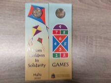 10 x Original Coincard 2 Euro Gedenkmünze Malta 2020 Spiele mit Füllhorn