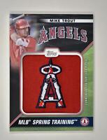2021 Series 1 Spring Training Cap Logo Relic Black #STCL-MT Mike Trout /299