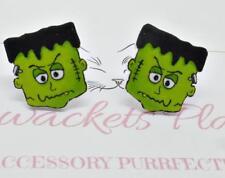 Frankenstein Studs, Monster Posts, Halloween Earrings, Comic Studs, Earrings