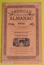 American Farm & Home Almanac 1972 Great Old Pictures & Nice Graphics! Nice See!