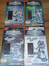 Gundam Set of 4 ICONX 3D Metal Earth Model Kits Gundum, Zaku II, Z'Gok, Barbatos