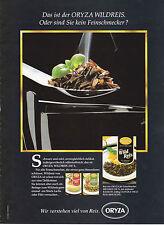 ORYZA WILDREIS RIZ RICE - ANNONCE PUBLICITAIRE 1990 GERMANY - ADVERT- COUPURE