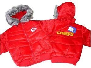 Reebok Girls Kansas City Chiefs Heavy Winter Jacket