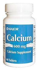 Major Calcium Carbonate 600mg Tablets 60 Count Each