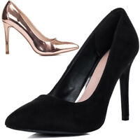 Womens Pointed Toe Stiletto High Heel Court Shoes Sz 3-8