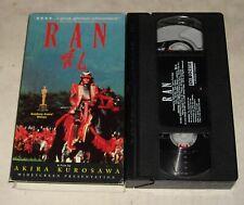 Vhs Tape in Sleeve - Academy Award Winner Akira Kurosawa Ran Widescreen Edition